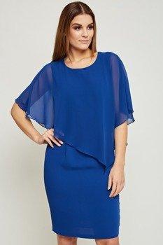 fe583432e6 Chabrowa szyfonowa elegancka sukienka