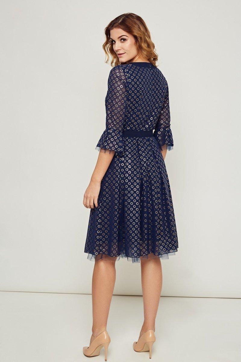 2e140a9b95 Szyfonowa elegancka sukienka